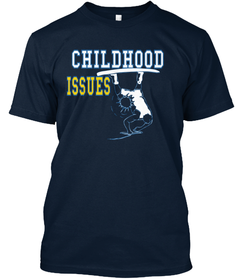 Childhood Issues New Navy T-Shirt Front