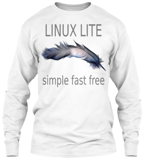 Linux Lite   Long Sleeve White White Long Sleeve T-Shirt Front
