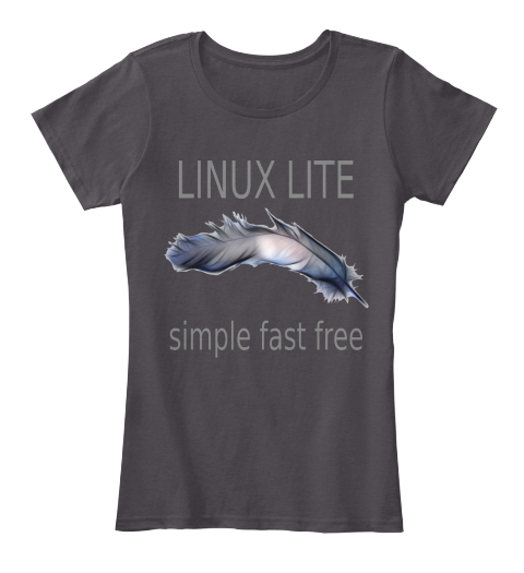 Linux Lite   Womens Tee Dark Heathered Charcoal  Women's T-Shirt Front