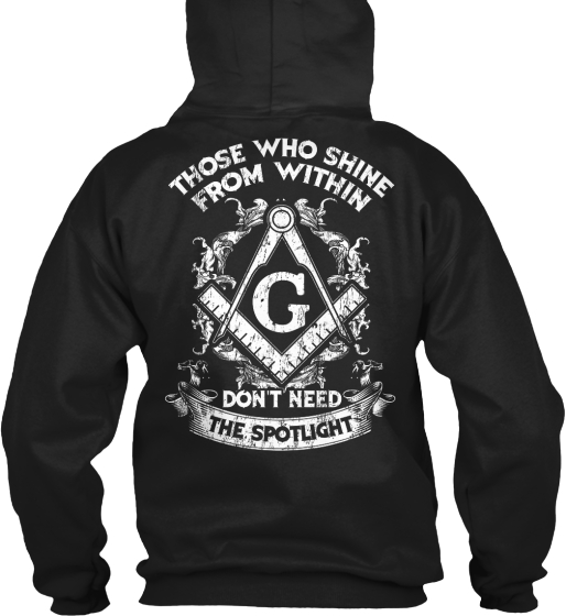 G Those Who Shine From Within Don't Need The Spotlight Sweatshirt Back