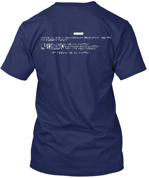 D.O.S. Revival Navy T-Shirt Back