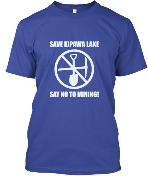 Help Save Kipawa Lake! Deep Royal T-Shirt Front
