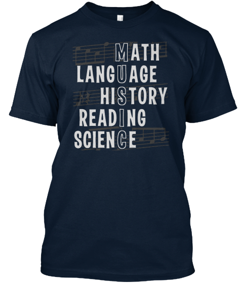 Math Language History Reading Science T-Shirt Front