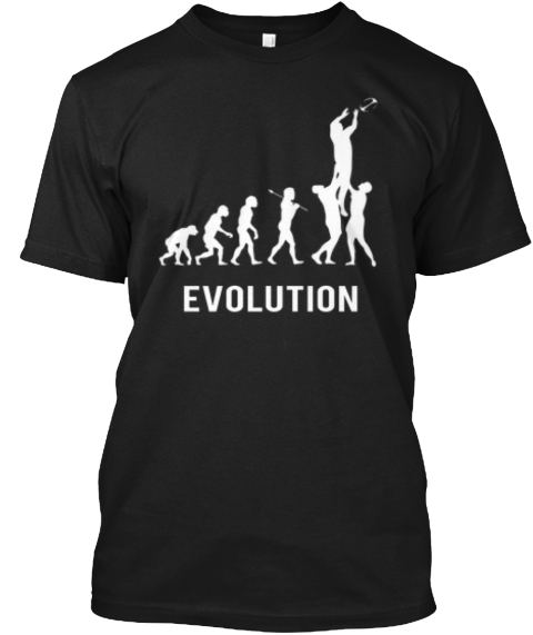 Evolution Of Rugby   Ltd Edition Shirt! Black T-Shirt Front