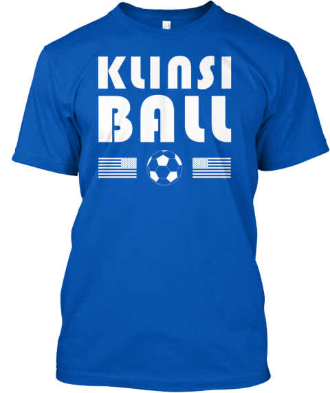 Klinsi Ball Royal T-Shirt Front