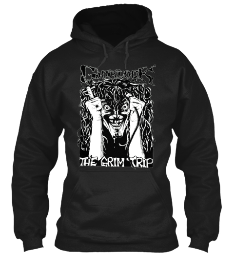 Grimlock   The Grim Trip Hoodie!! Black T-Shirt Front