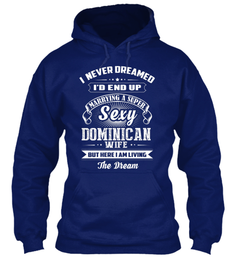 Dominican Sexy  03 E Oxford Navy Sweatshirt Front