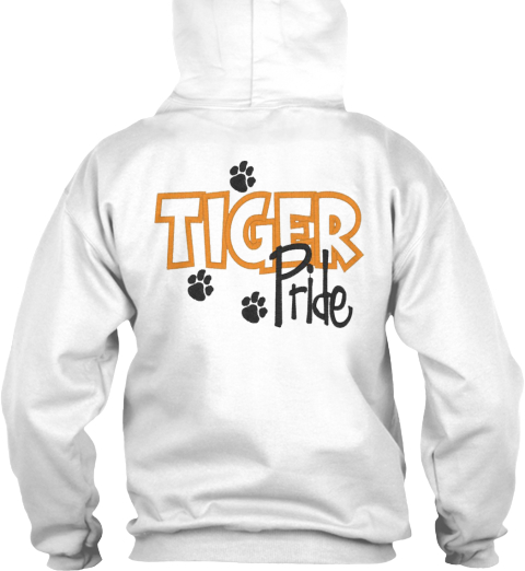Tiger White T-Shirt Back