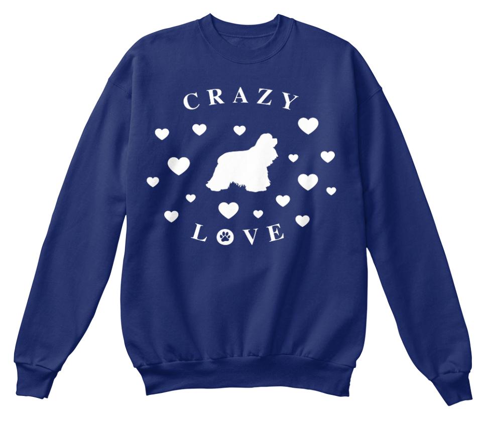 Spaniel Unisexe Love shirt Crazy Saint Sweat Standard Cocker Valentin U0qEnwRz