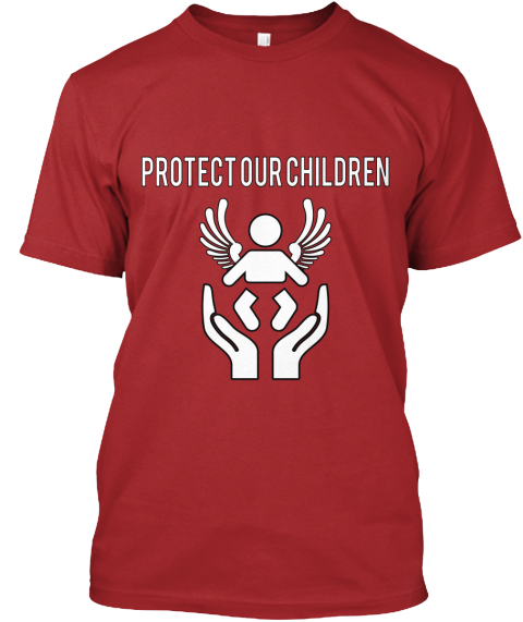 Protect   Our   Children Red Maglietta Front