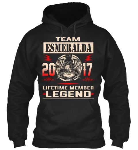 Team Esmeralda 2017 Black T-Shirt Front