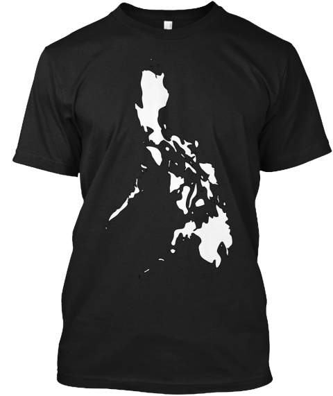 Philippines Map Black T-Shirt Front