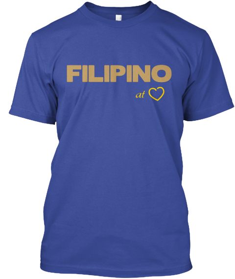 Filipino At Deep Royal T-Shirt Front