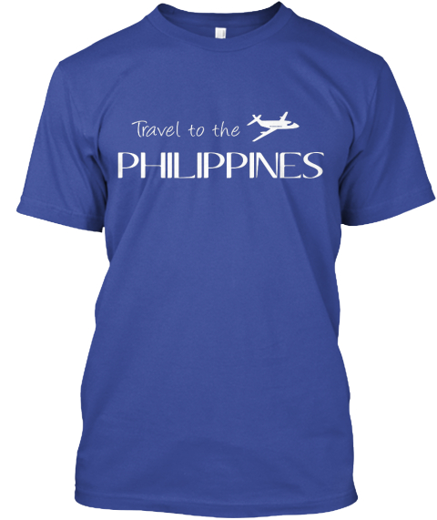 Travel To The Philippines Deep Royal T-Shirt Front