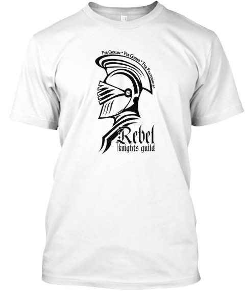 Rebel Knights Guild Apparel White T-Shirt Front