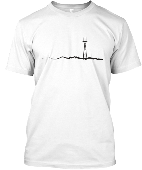 Twin Peaks &Amp; Sutro Tower T-Shirt Front