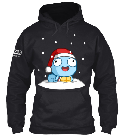 Derpy Winter Black Sweatshirt Front