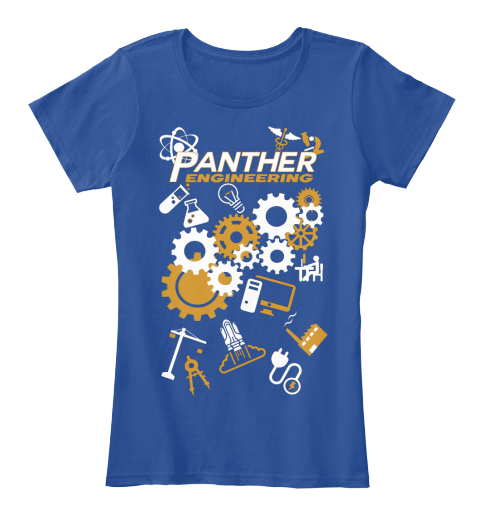 Panther Engineering Deep Royal  Women's T-Shirt Front