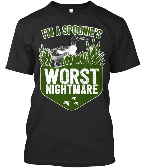 Im A Spoonies Worst Nightmare Black T-Shirt Front