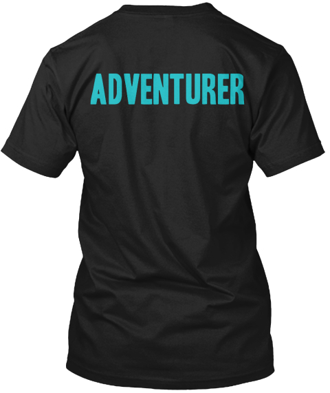Adventurer Black T-Shirt Back