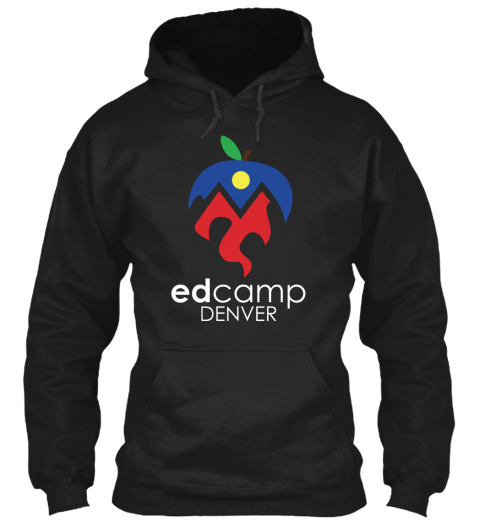 Edcamp Denver Merch Black Sweatshirt Front