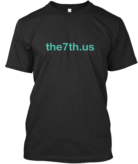 The7th.Us Black T-Shirt Front