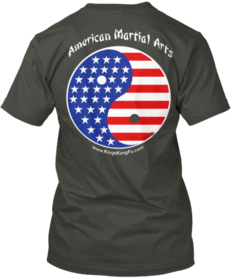American Martial Arts Smoke Gray T-Shirt Back