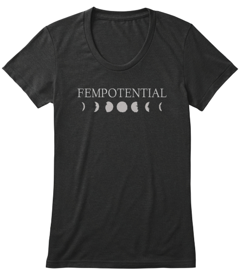 Fempotential Black T-Shirt Front
