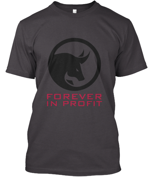 Forever In Profit Heathered Charcoal  T-Shirt Front