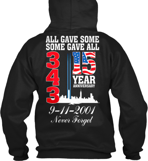 15 Year Anniversary Black Sweatshirt Back