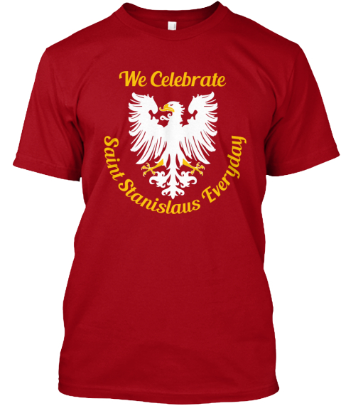 Polish Power Deep Red T-Shirt Front
