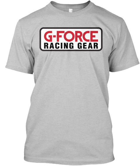 G Force Racing Gear Light Heather Grey  T-Shirt Front