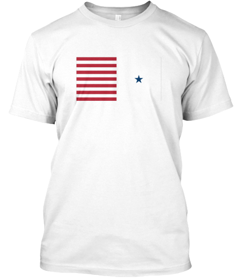 American Expat Apparel White T-Shirt Front