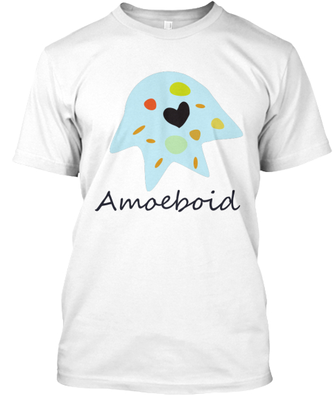 Amoeba Black Love Valentine's Day Shirt White T-Shirt Front