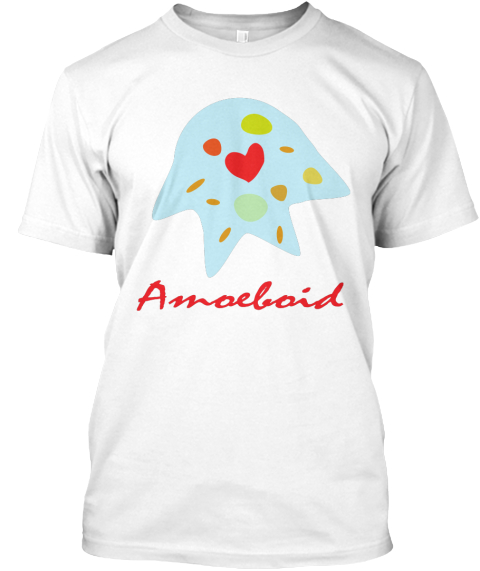 Amoeba Red Love Valentine's Day T Shirt  White T-Shirt Front