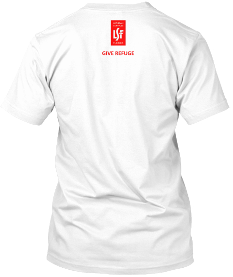 Refugee Awareness White T-Shirt Back