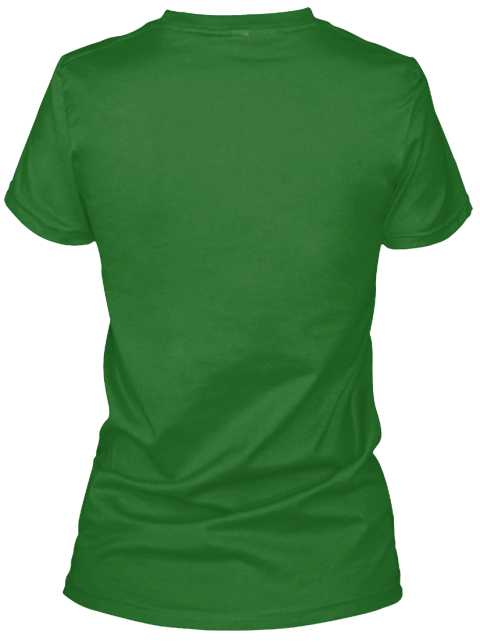 I Love Shenanigans  Irish Green Women's T-Shirt Back