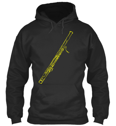 Bassoon Hoodie (Europe) Jet Black Sweatshirt Front