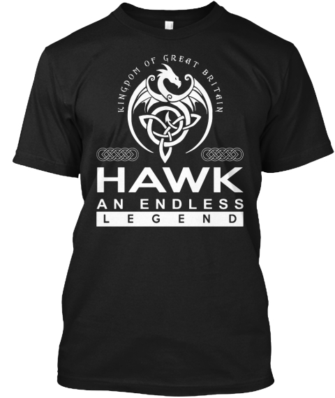 Hawk An Endless Legend Black T-Shirt Front