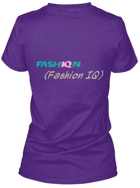 Fash Iq N (Fashion Iq) Purple Women's T-Shirt Back