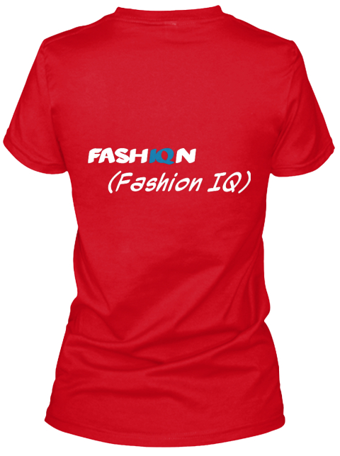 Fash Iq N (Fashion Iq) Red Women's T-Shirt Back