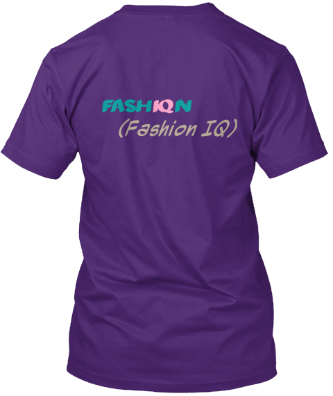 Fash Iq N (Fashion Iq) Purple Camiseta Back