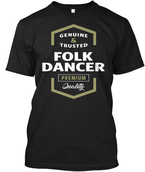 Folk Dancer Logo T Shirt Black T-Shirt Front