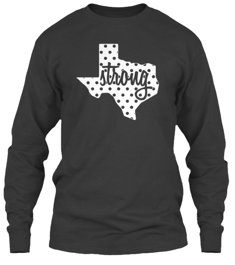 Strong Dark Heather Long Sleeve T-Shirt Front