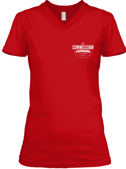 Paid To Vacation Female Vneck Red T-Shirt Front