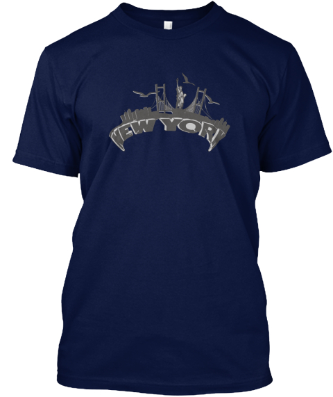 New York Navy T-Shirt Front