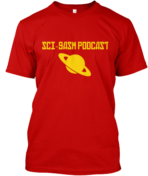 Sci Gasm  Podcast  Classic Red T-Shirt Front