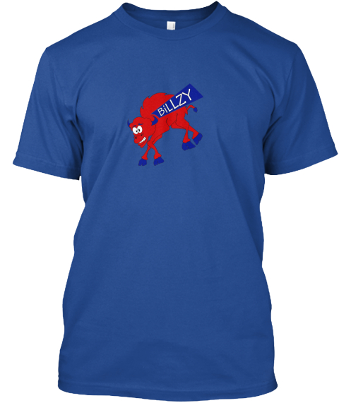 'timeout' Bi Llzy Gear! Deep Royal T-Shirt Front