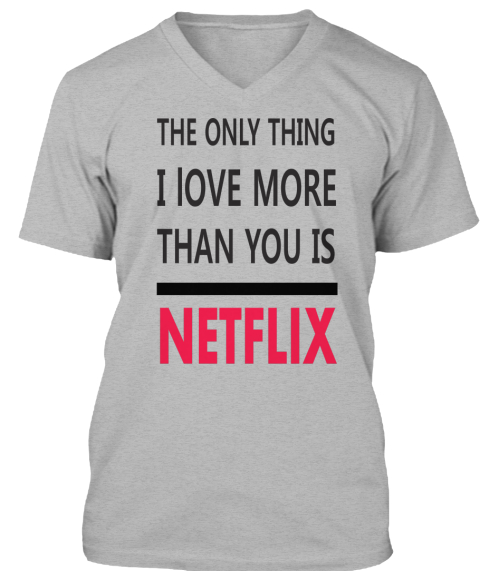 Limited Edition Netflix Love Athletic Heather Maglietta Front