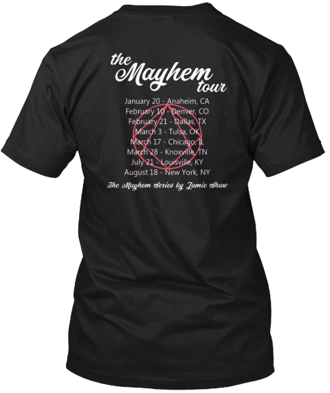 Mayhem Series Black T-Shirt Back
